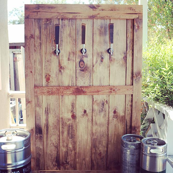 Barndoor Beer Wall