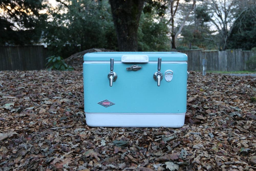 vintage teal jockey box