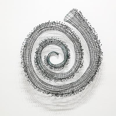 Bronwyn Oliver  Spiral I  1988 copper, lead 110 x 100 x 16 cm © Estate of Bronwyn Oliver. Courtesy Roslyn Oxley9 Gallery, Sydney