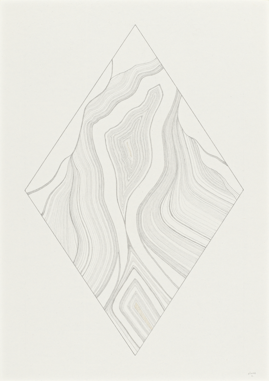 Groundedness - Alana CollinsDiamond in the Rough (2017), Graphite on Paper, 21cm X 29.7cm