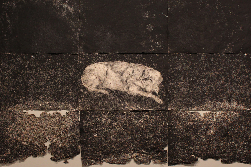 Transition state: an expression of loss - Stewart RalphTransition state, multi-panel drawing.