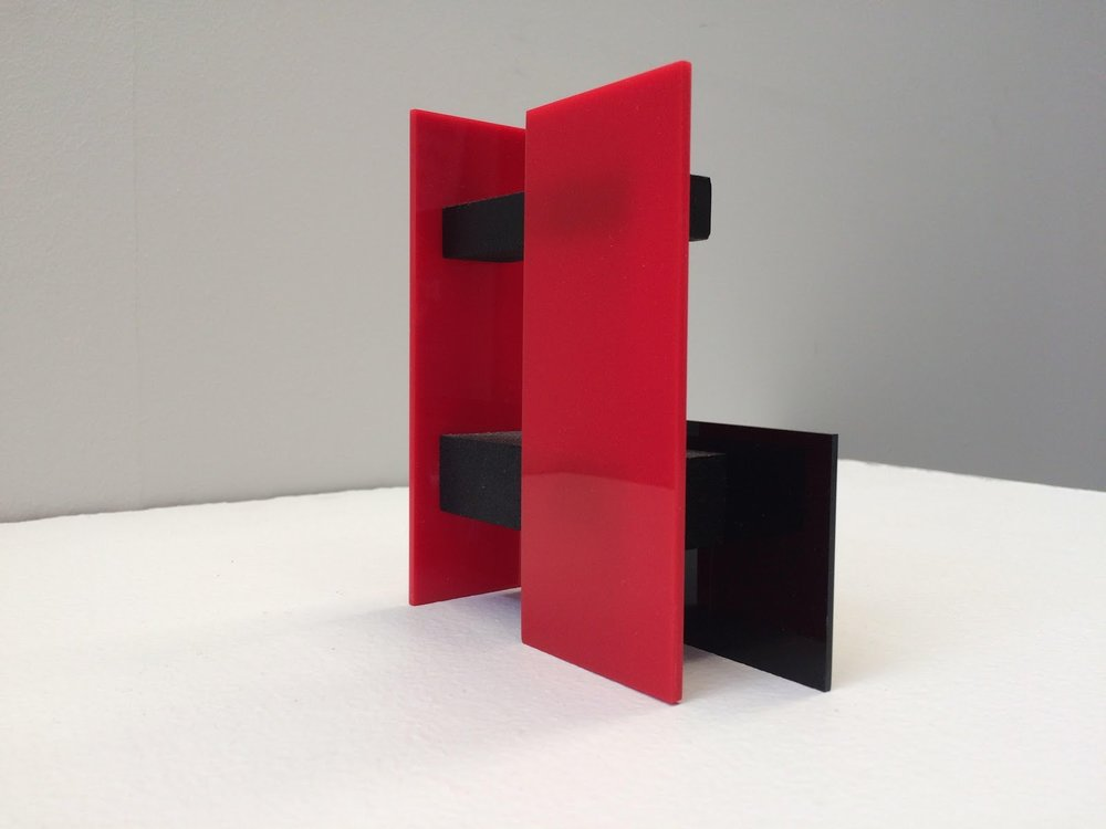 Reflecting the Edge  - Simon Gregory (TAS)Untitled (BPRP) (2015), Balsa wood, Perspex and acrylic paint, dimensions variableCourtesy of the artist.