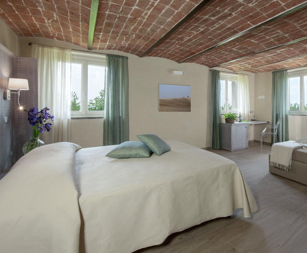 Camera Salvia - magnifica vista SULLE colline del Monferrato80,00 € uso singola100,00 € uso doppia120,00 € uso tripla