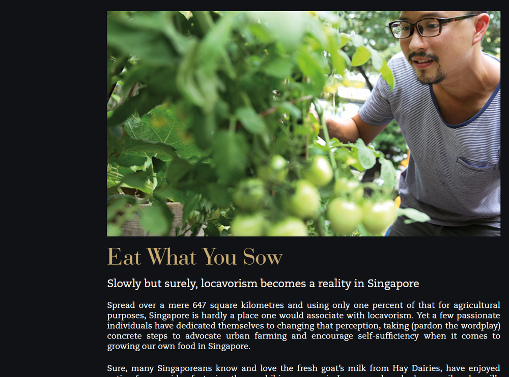 Eat What You Sow - SC Global Developments, June 2013