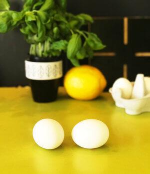 vilket ägg är kokt?