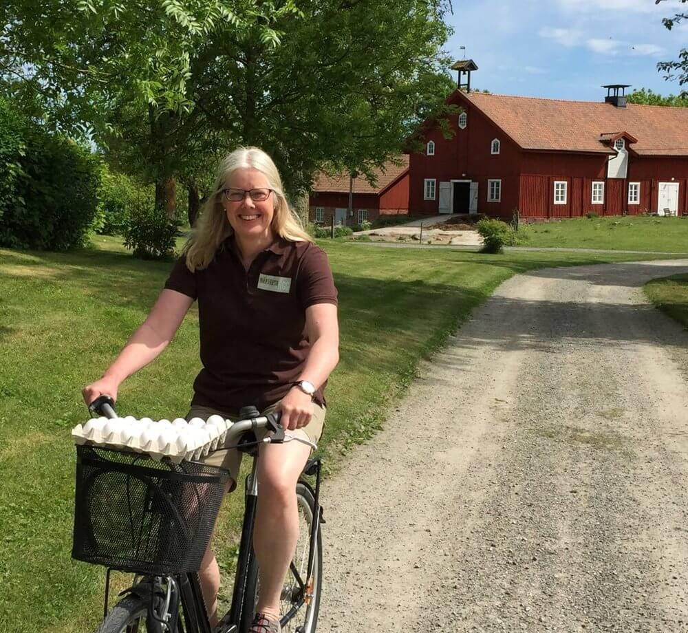 Besök oss på gården och handla färska ägg direkt i vår butik.