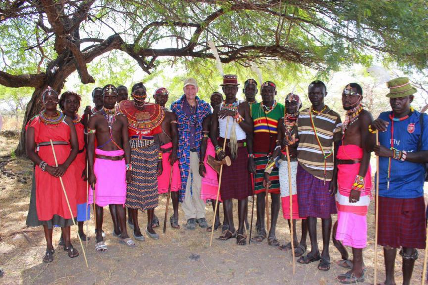 US Ambassador to Kenya Robert Godec with Ruko Conservancy members