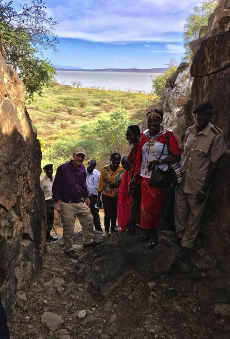 Ambassador Godec with the Ruko team on Giraffe Island