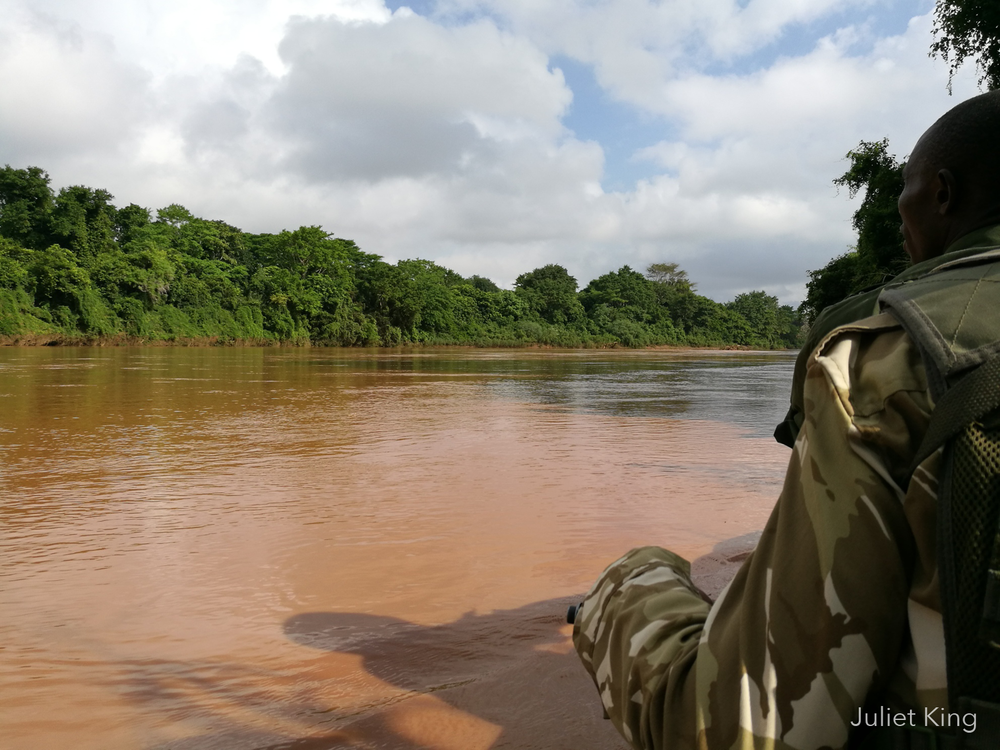 Ndera Conservancy rangers on patrol on the Tana River