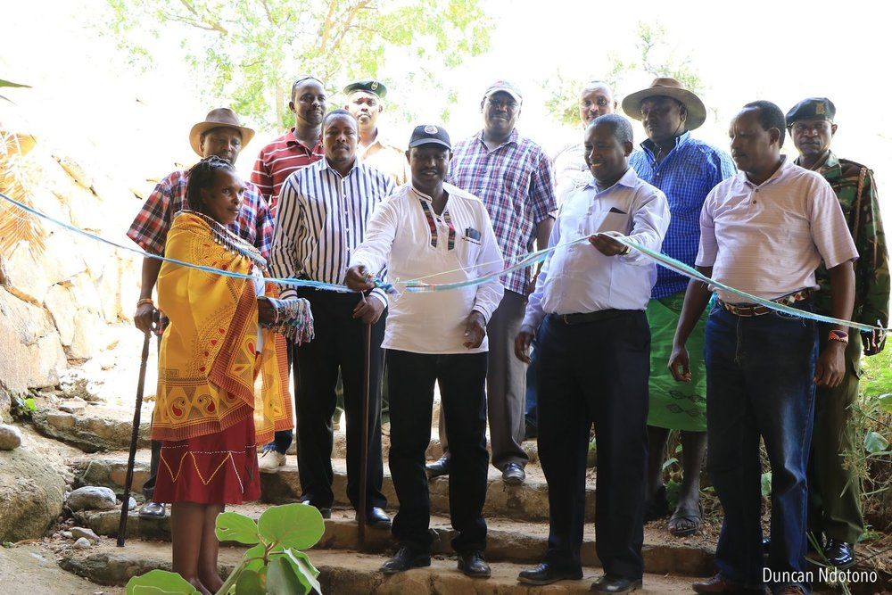The lodge was officially opened on the 28th June by Deputy Governor of Samburu County Julius Leseeto and NRT's CEO Tom Lalampaa