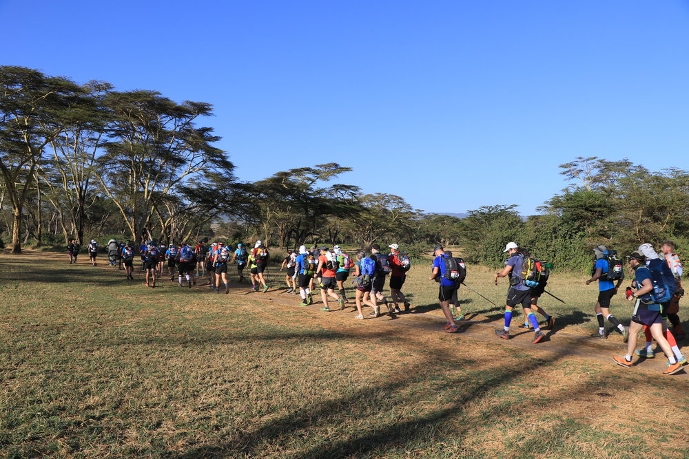 Off they go, some of the fifty participants during the Ultra Marathon that covered 220Km across five conservancies spearehed by For Rangers to raise funds for the welfare of wildlife rangers..JPG