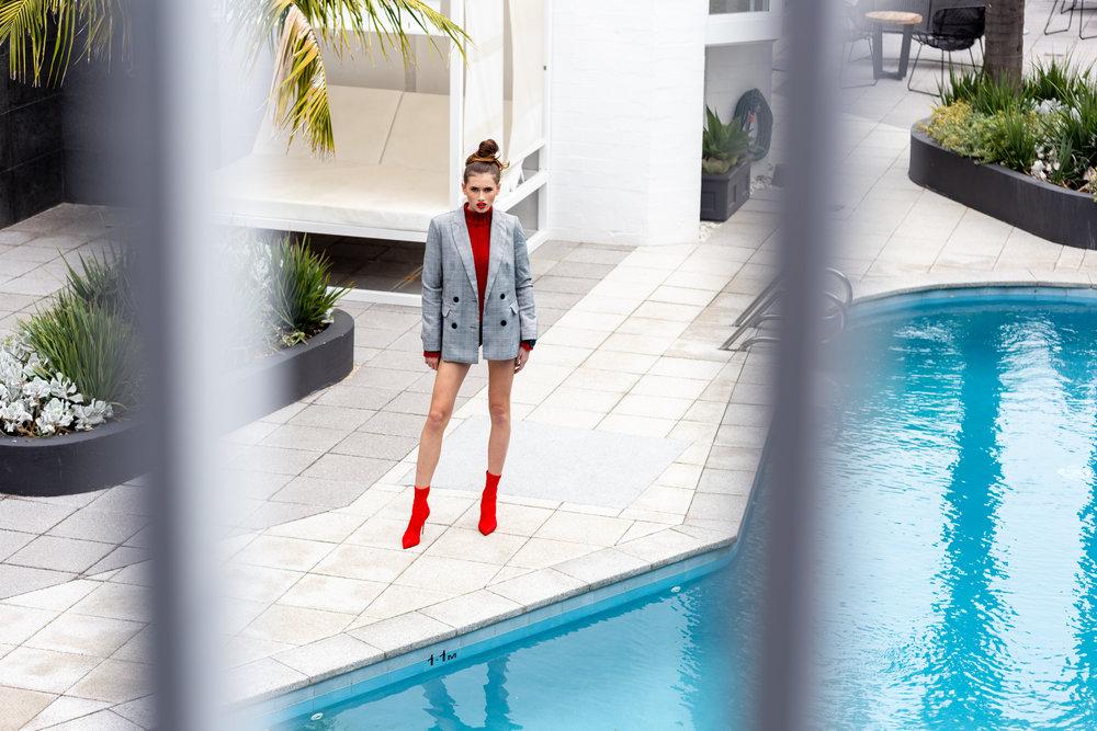 Desiree wears:  Millicent Blazer  &  Renzo Knit .