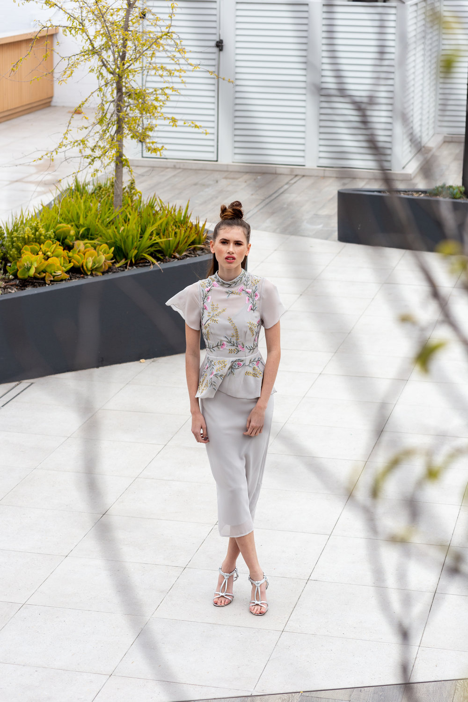 Desiree wears:  Embellished Embroidery Peplum Dress  &  Merry Heels .
