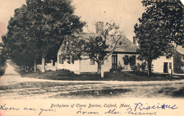 What a lovely little home! Clara Barton's house in Oxford, Massachusetts.   Courtesy of Clara Barton National Historic Site/National Park Service.