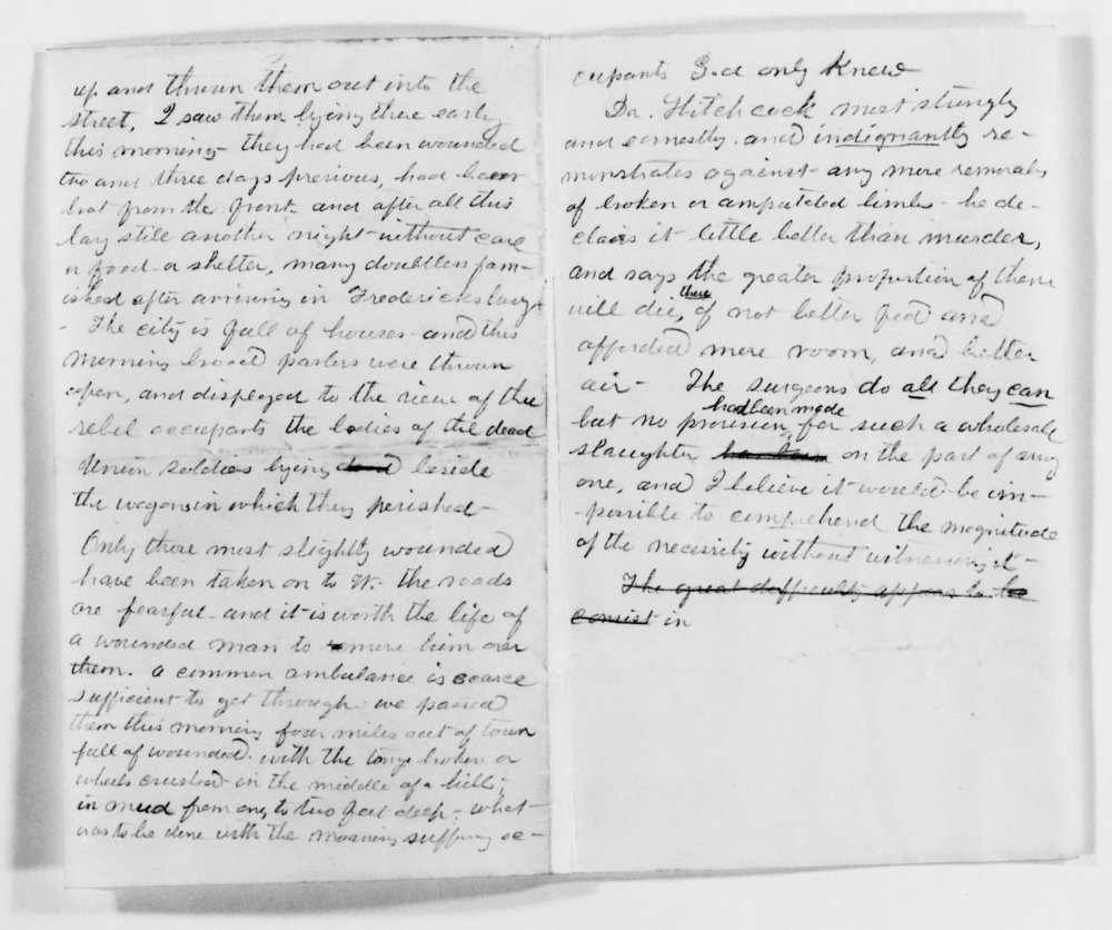 Clara's Diary at Fredericksburg