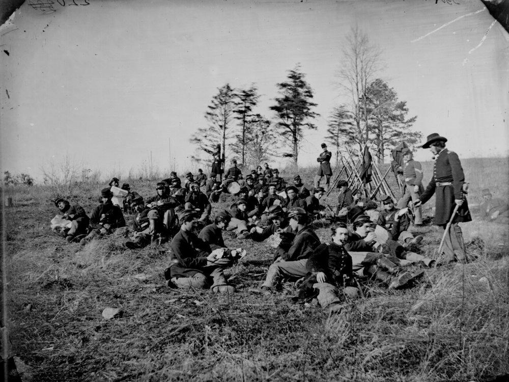 Civil war soldiers_Archives_resting after drilling Petersburg, Va., 1864. .jpg