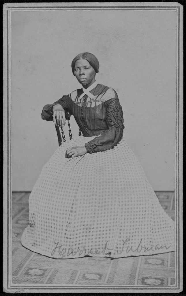 this portrait of harriet tubman was only unearthed recently, in a forgotten scrapbook. it's believed to have been taken between 1867 and 1869, when she lived in Auburn, N.Y., where she took care of fugitive slaves in their old age. - Courtesy of the Library of Congress.