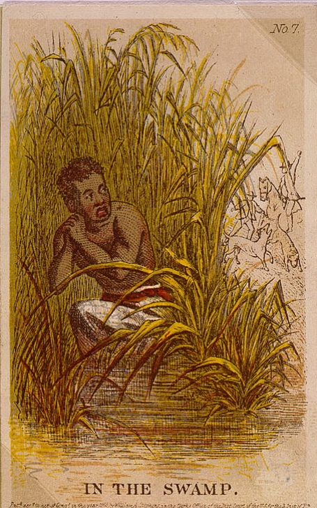For an enslaved person, running away was a scary and very dangerous business. You had to not only survive cold nights in hiding, but dodge the many people on the lookout for you. For people who've never been a day off of the plantation where they grew up, this was seriously daunting.   Courtesy of the Library of Congress.