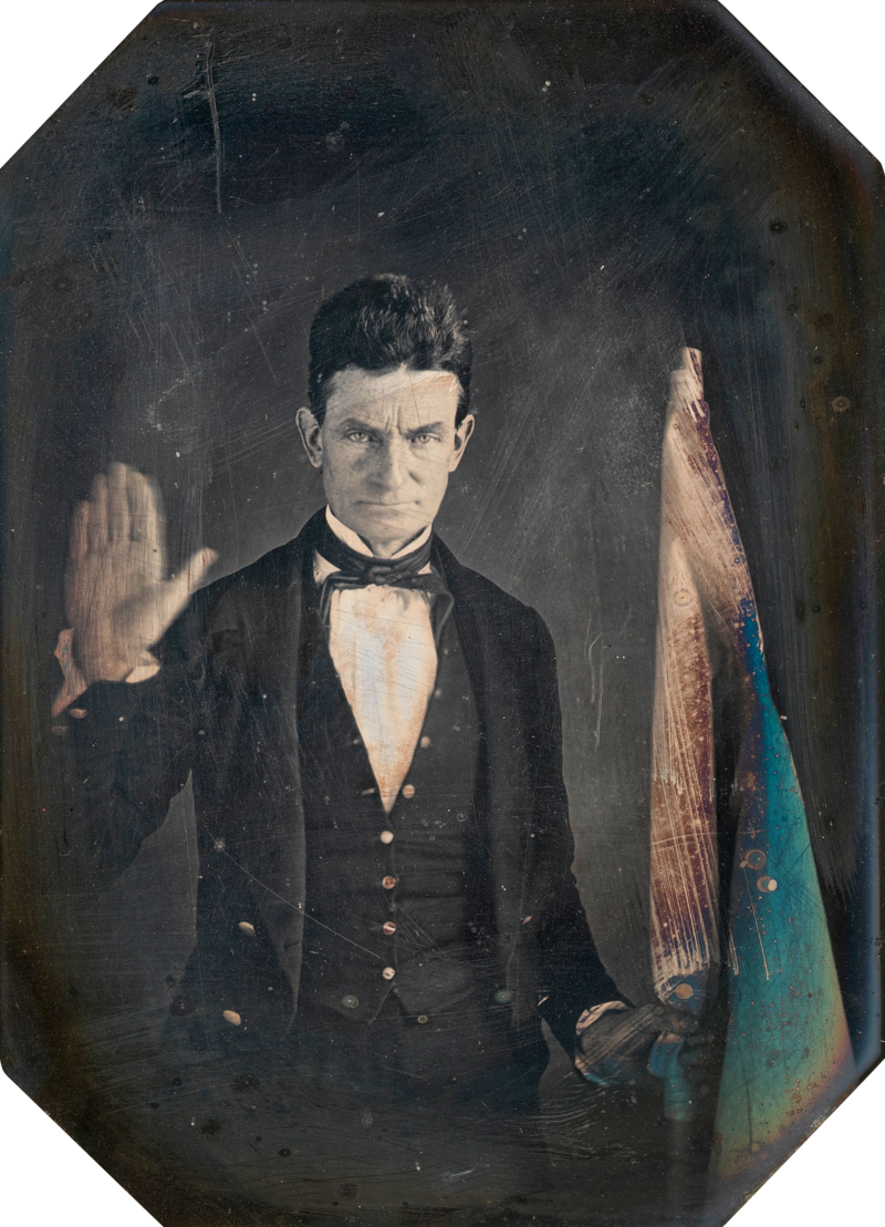 "Abolitionist and really intense dude John Brown, who Harriet idolized and who called her ""General Tubman."" (The Smithsonian's National Portrait Gallery)"