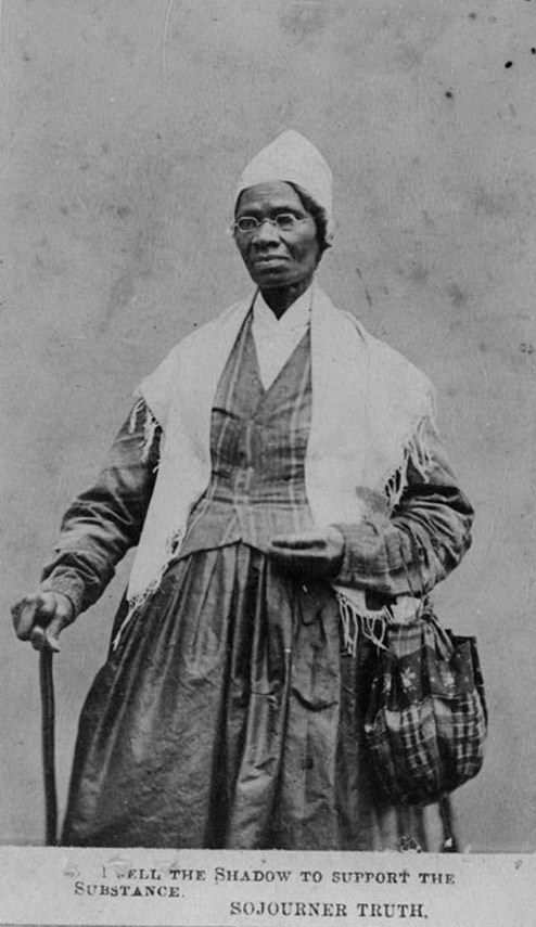 1. the eloquent speaker:Sojourner Truth - Courtesy of the Library of Congress