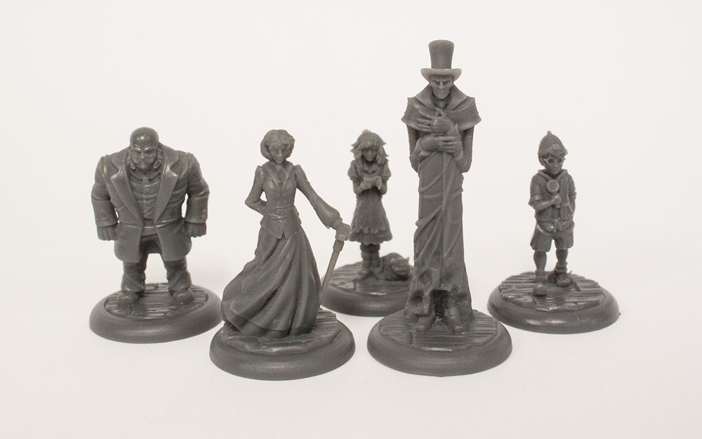 The Awful Orphanage - Character Prototypes for a mildly evil board game