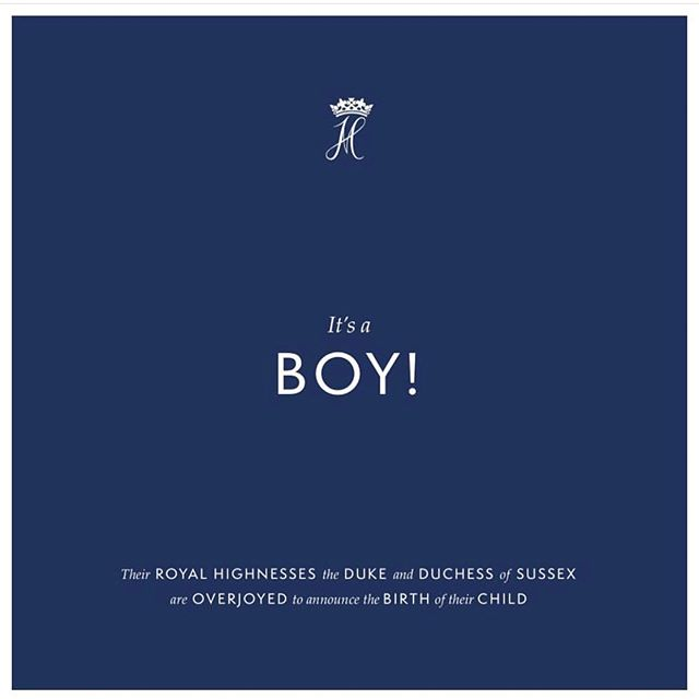 A huge congratulations to the Duke and Duchess of Sussex on the birth of their beautiful baby boy Prince Archie Harrison 👶🏻 👑  I was brought to tears as I listened to Harry's announcement to the world on Monday. Seeing his absolute joy at becoming a father, the love and support for his wife, and the admiration for women and what they endure to bring life into this world. And then again, when I witnessed their loving, humble, and gracious address as they introduced baby sussex to the world.  I love that they have made the decision to protect their family and keep this moment private while at the same time letting people know how grateful they are for all the love and support. And Megan looked beautiful and human as she steeped back out into the public just two days after giving birth.  If this journey is any indication of how they will be as parents then there is no doubt that they are going to do a great job!  #sussexroyal #babysussex #congratulations #newparents #keepingitreal #hope #abetterworld
