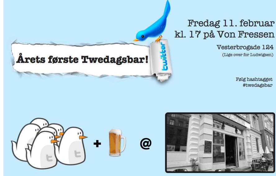 Årets første twedagsbar - husk at tilmelde dig! Bum! Kom! Og husk at tilmelde dig på den officielle doodle: http://twedagsbar.dk/     Ses vi?