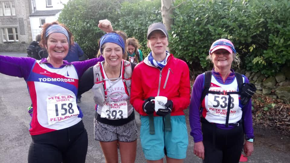 These women had just finished a 16.5 mile 4,500 feet climbing fell race. The Tour of Pendle!!