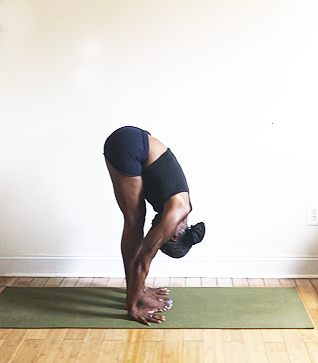uttanasana (forward fold).