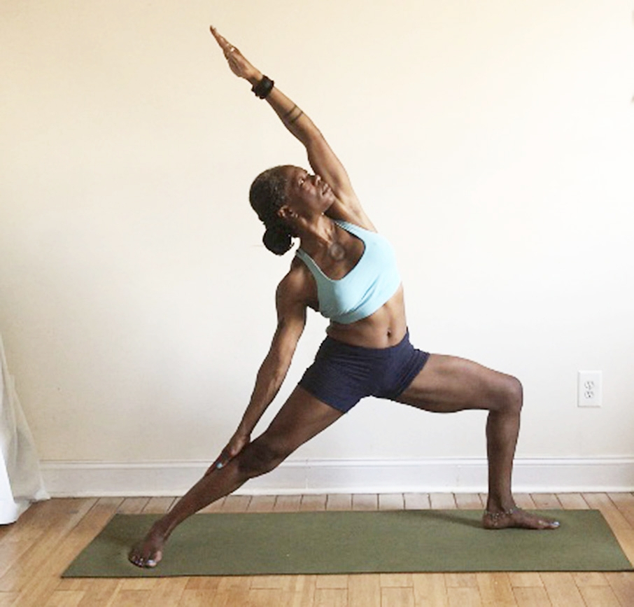 viparita virabhadrasana. (side bend NOT backbend.)