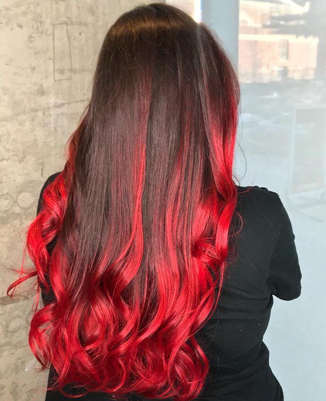 🔻🔺🔻RIVER RUNS RED 🔻🔺🔻 #hairpainting #balayage #haircolor #fantasycolor #redhair #colormelt #fadetored #pulpriot #pravanavivids #pravana #bloodred #gothhair #dchair #dchairstylist #theyardsdc #sedc #bangsalondc #acreativedc #nofilter