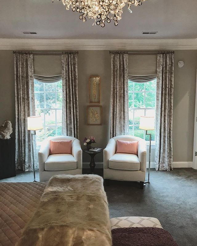 Congratulations to Cheryl @designsbycheryl for designing one great looking Master Bedroom at the Charlottesville Design House.  Thanks for letting LHS Designs fabricate the window treatments and pillows! @cvilledesignhouse
