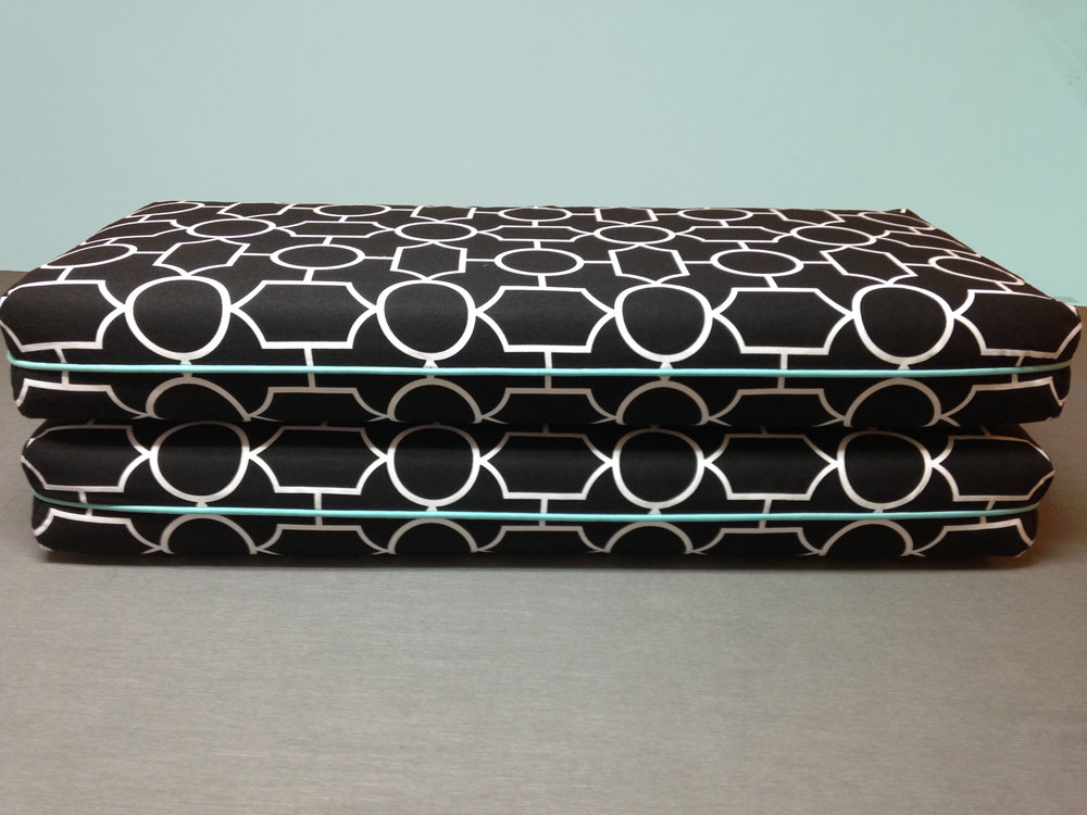 Cushions with Turkish Corners for Kathy Corbet Interiors