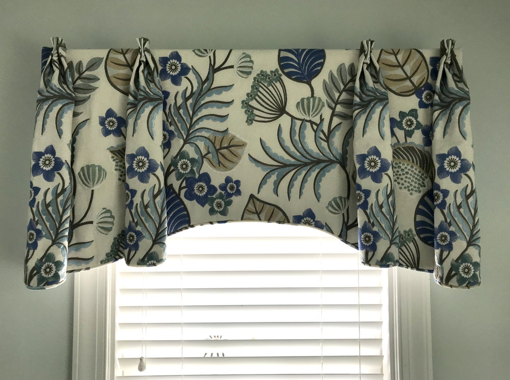 Custom Valance for Kathy Corbet Interiors