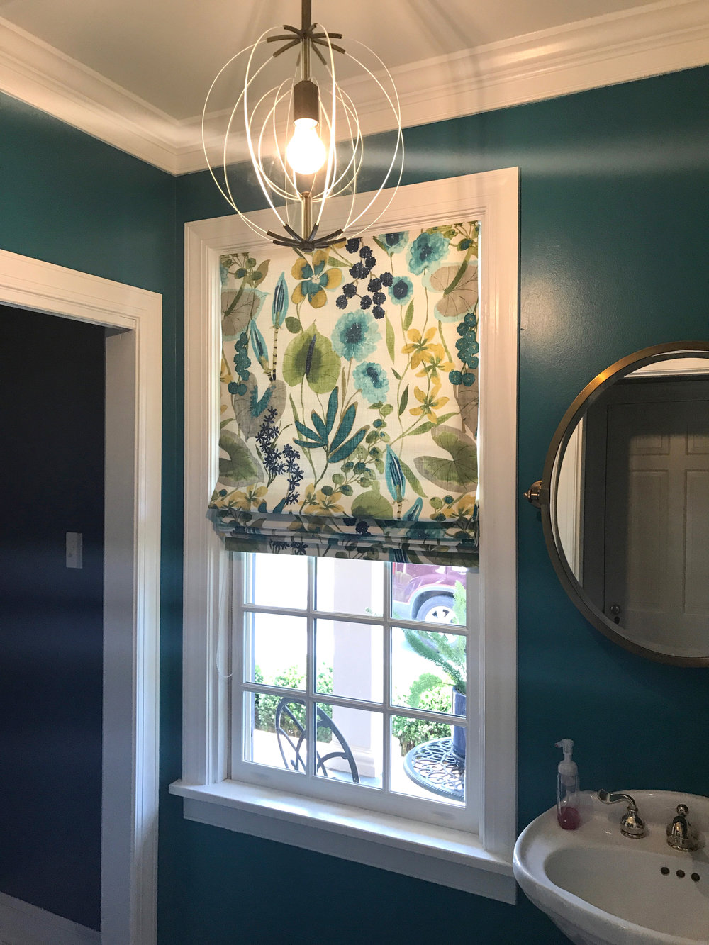 Functioning Roman Shade for Tracy deShazo Interiors