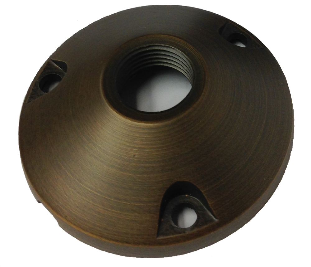 BX1RNDBSE - ROUND BRASS MOUNTING BASE BRONZE FINISH