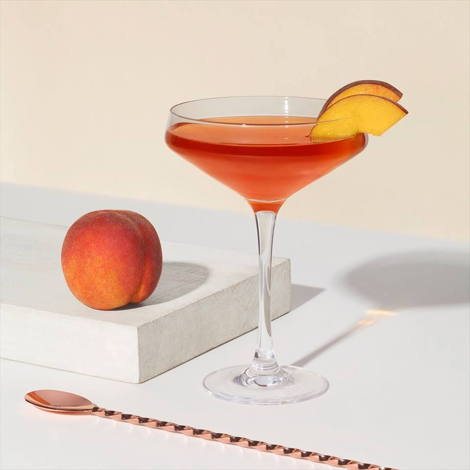Summer Peach Manhattan
