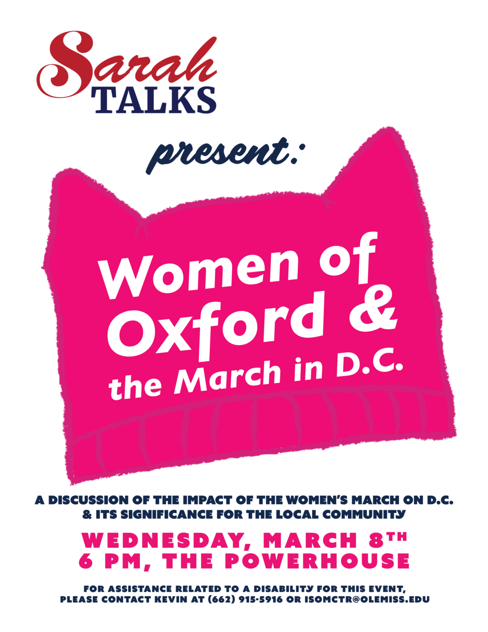 Sarah Talks Women's March Flyer.png