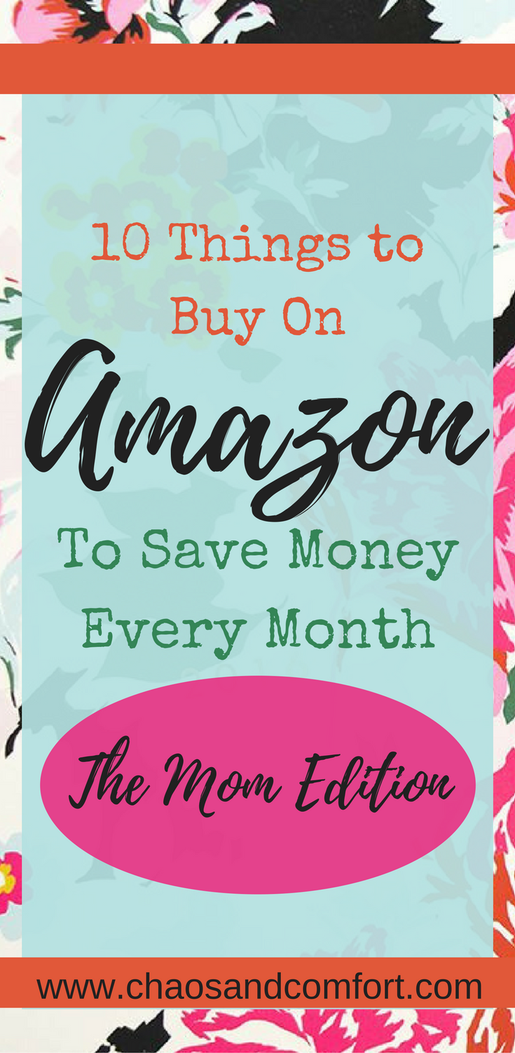 10 Items to buy on Amazon and save