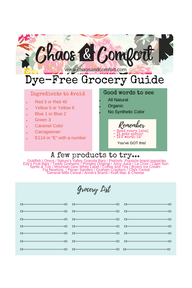 Food Dyes Grocery Guide