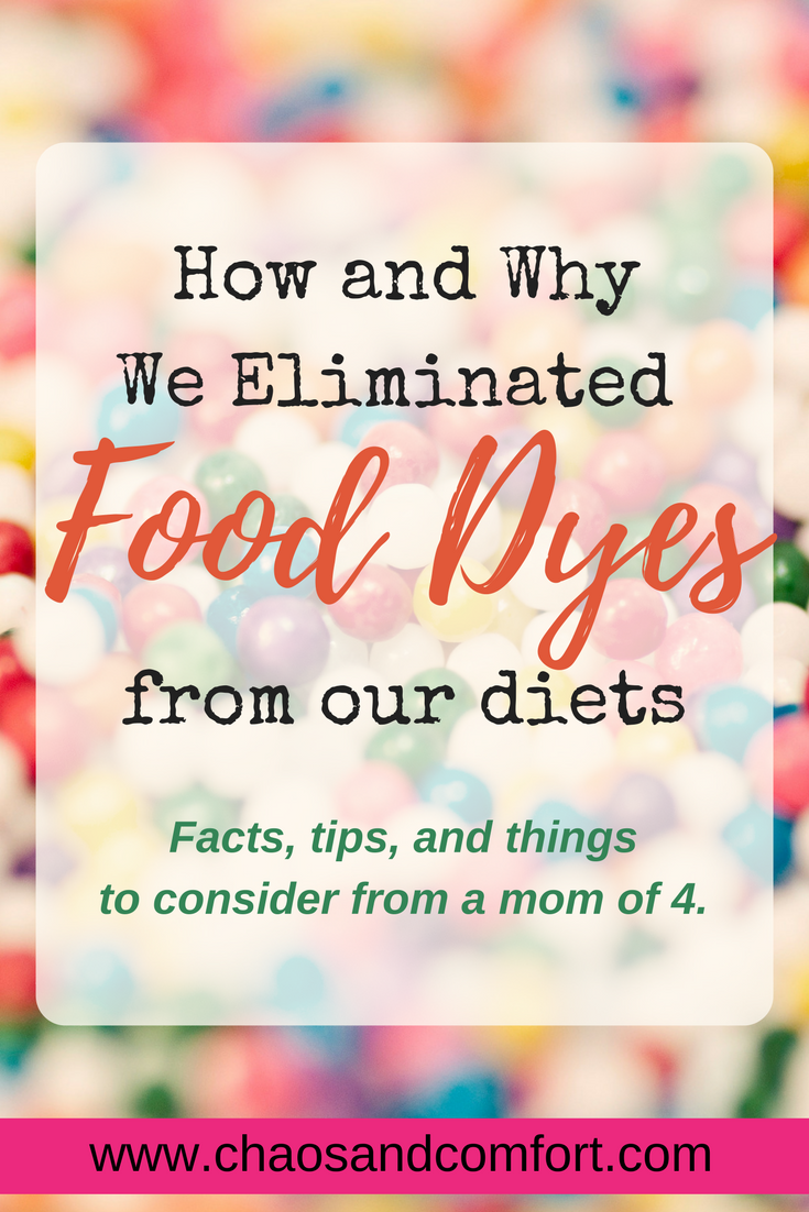 How and why we eliminated food dyes in our diets- a 3-part blog series!