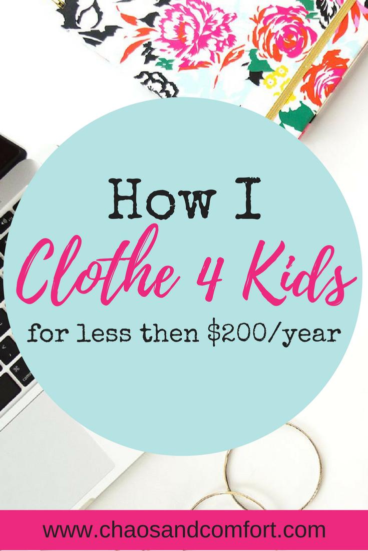 How i clothe 4 kids under $200