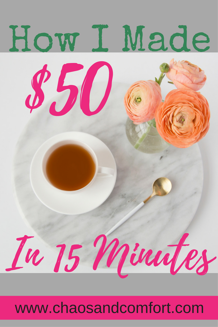 $50 in 15 minutes