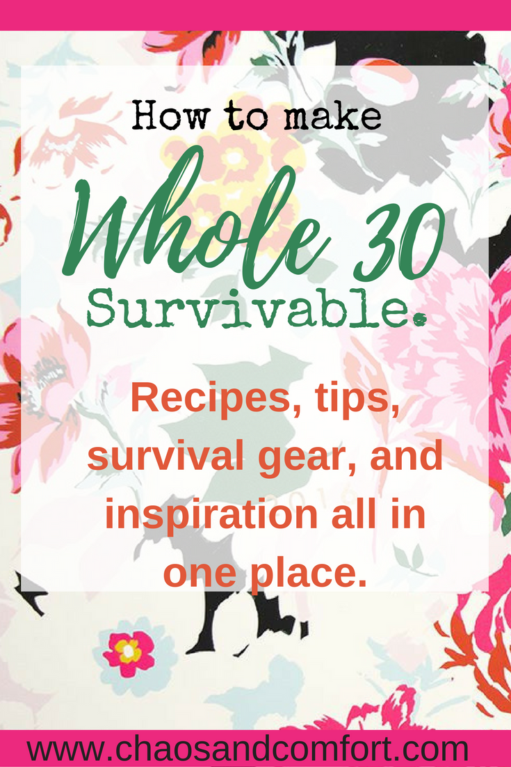 making Whole30 survivable