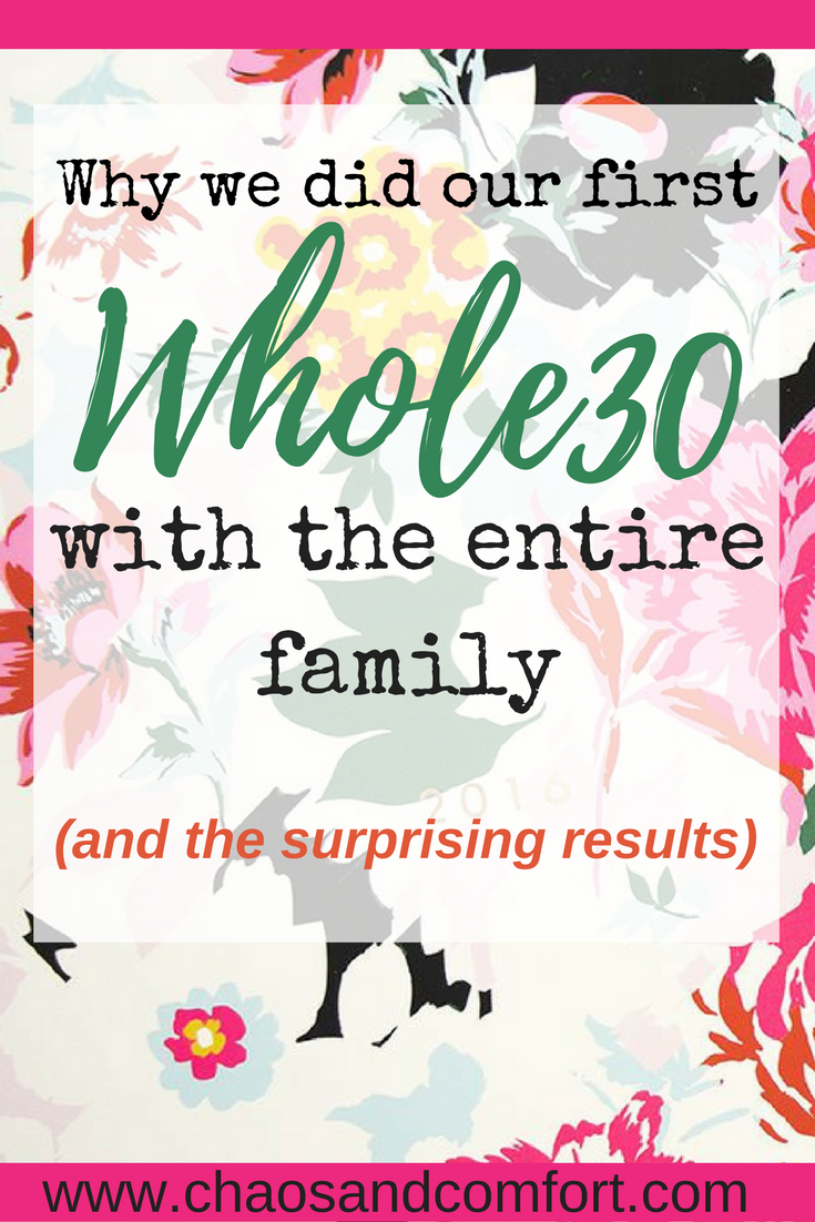 whole30 with the entire family