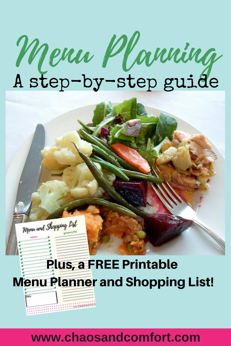 Menu Planning Free Printable