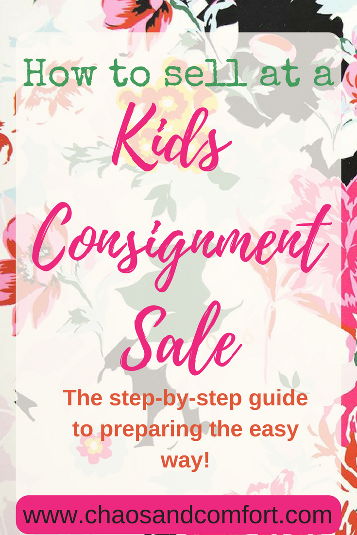 preparing for a kids consignment sale