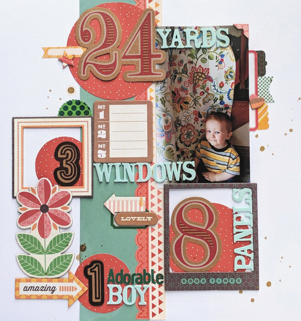 24 Yards Scrapbook Layout