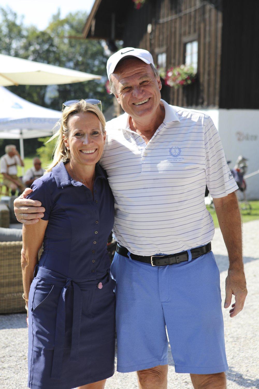 Andrea und Thomas Hübner (Präsident des Tegernseer Golf-Clubs Bad Wiessee)