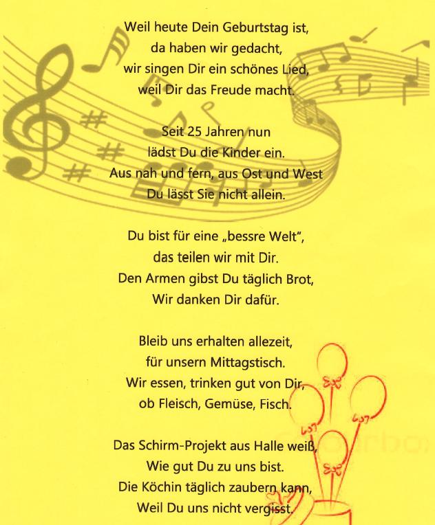 Ein Geburtstagslied für CHILDREN aus unserer Partnereinrichtung in Halle
